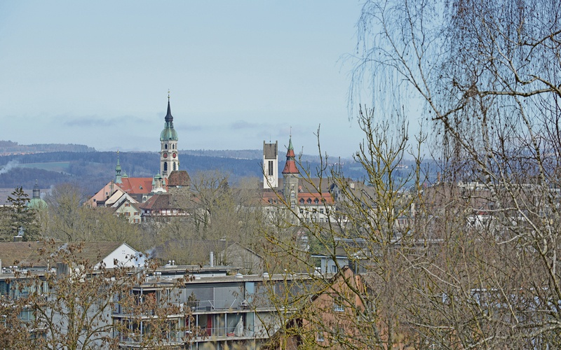 Teleblick von der  Heerenbergstrasse auf die Stadt