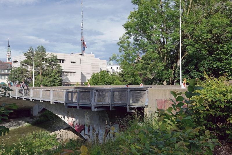 Murgplatz mit und ohne Brücke