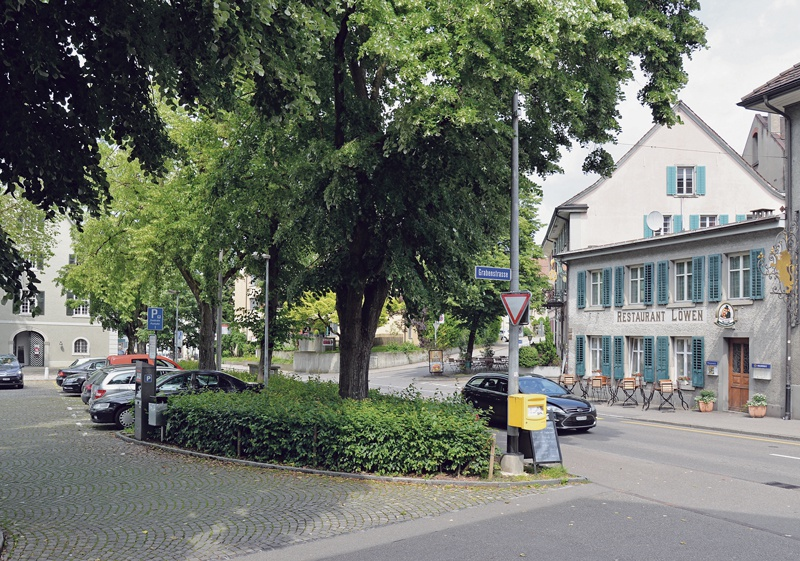 Zeughausplatz 1906 und 2016