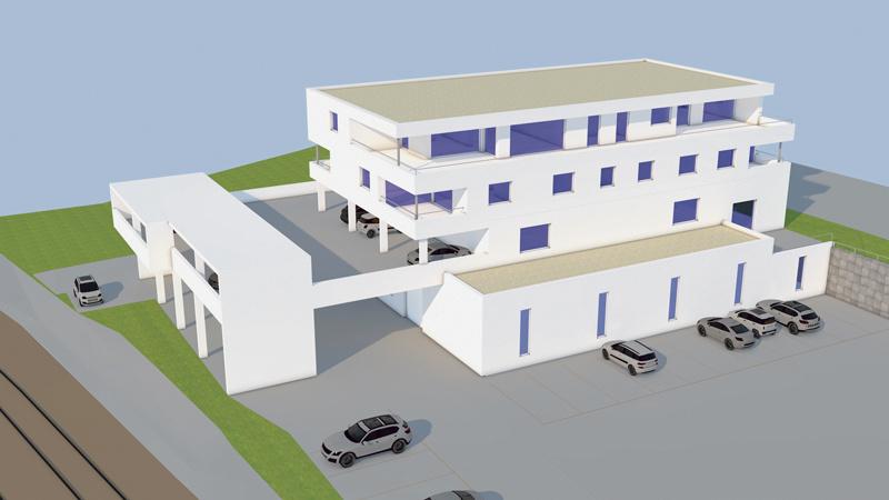 Romano und Portone erstellen Neubau