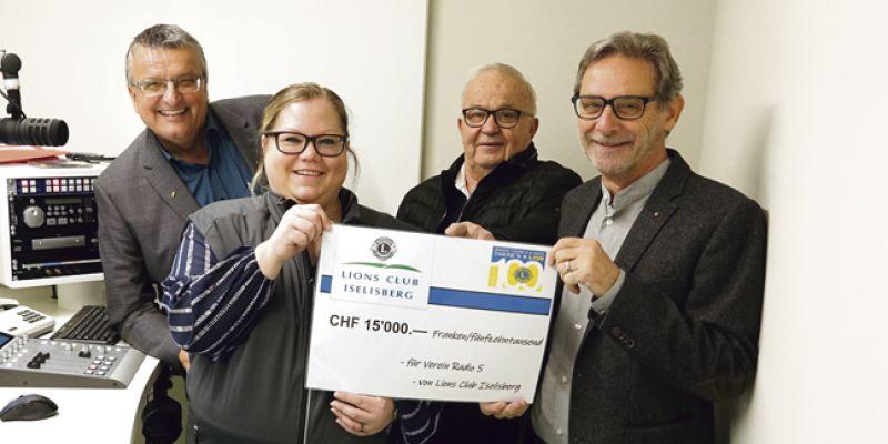 15000-Franken-Spende für Radio S