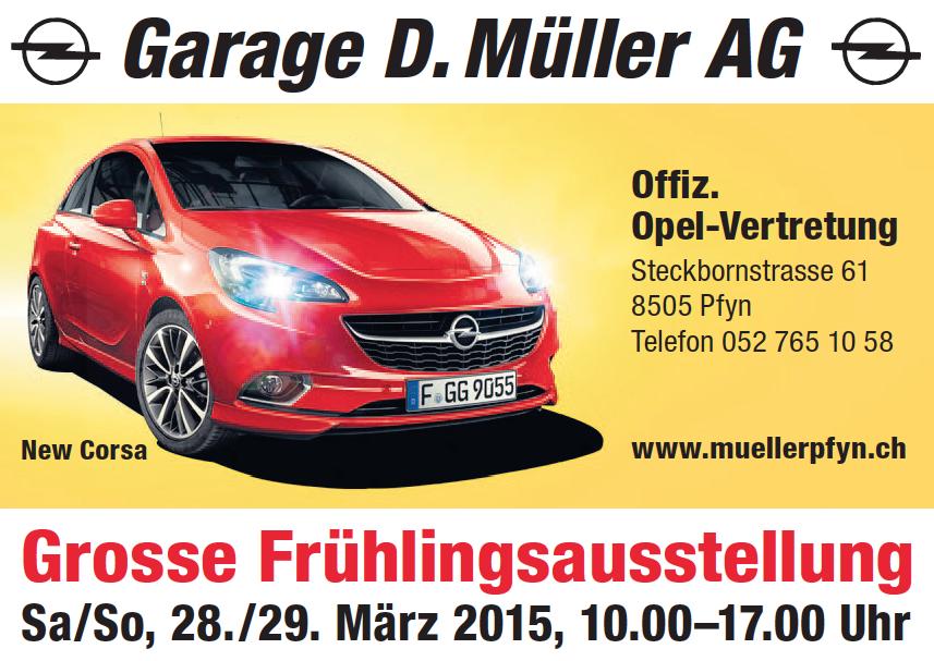 Frauenfelder woche amtliches publikationsorgan der stadt for Garage opel region parisienne
